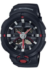 Men's Resin Band Watch -GA-500, black/red, black, black
