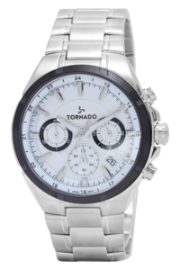 Tornado Men's Watch Chronograph Display-T9105-SBSSB, silver, silver