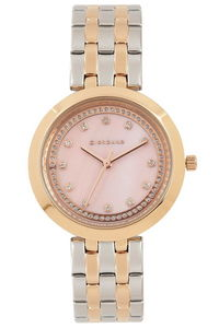 Giordano Women's's Watch Analog Display- 2821-55, tt rose gold, mop rose gold