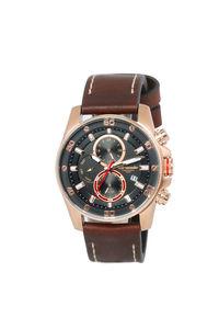 Tornado Men's Watch Multifunction Display Watch- T5131-RLDDR, rose gold, brown