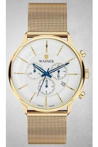 Men's Stainless Steel Band Watch -WA19099, gold, gold, white