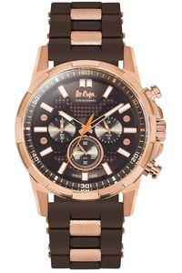 Men's Resin Band Watch -LC06360, brown, rose gold, brown