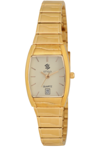Women's Stainless Steel Band Watch -S7524, ivory, ip gold, ip gold