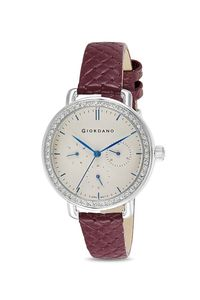 Giordano Women's Watch Multi Function Display- 2938-02, maroon, grey