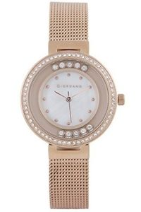 Women's Stainless Steel Band Watch - 2838, rose gold, mop white, rose gold