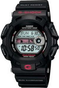G-shock Men's Resin Band Watch G-9100-1D, grey, black, black
