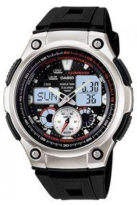 Men's Resin Band Watch - AQ-190, black, silver, black