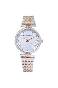 Giordano Women's Watch Analog Display- 2869-66, two tone rose gold, white