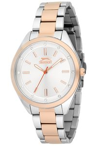 Women's Stainless Steel Band Watch - SL. 9.6044, silver, silver, tt rose gold
