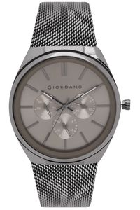 Men's Stainless Steel Band Watch - 1841, grey, grey, grey
