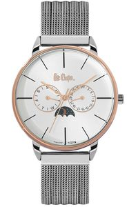 Men's Super Metal Band Watch - LC06494, silver, silver/rose gold, silver