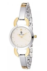 Stylo Women's Stainless Steel Band Watch - S7545-GBGB, two tone gold, silver, silver