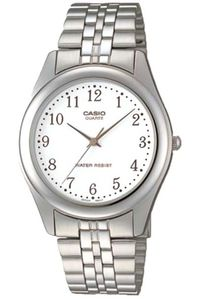 Women's Stainless Steel Band Watch - LTP-1129, white, silver, silver
