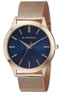 Giordano Men's Watch Analog Display- 1831-33, rose gold, blue