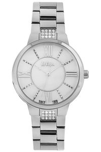 Women's Super Metal Band Watch -LC06477, mop white, silver, silver