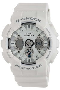 G-shock Men's Resin Band Watch GA-120A-7A, white, white, white