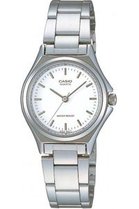Women's Stainless Steel Band Watch - LTP-1130, white, silver, silver