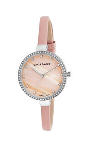 Giordano Women's Watch Analog Display- 2934-01, pink, peach