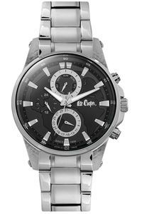 Lee Cooper Men's Multifunction Silver Case -LC06539.350, silver, black