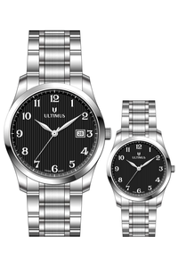 Men & Women Stainless Steel Band Watch- U70027502L, silver, silver, black