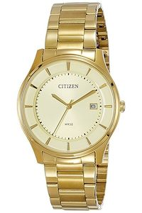 Men's Stainless Steel Band Watch - BD0043, gold, gold, gold