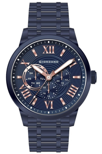 Giordano Men's Watch Multi Function Display- 1827-99, blue, blue