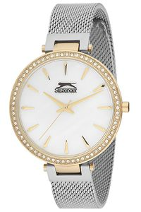 Women's Stainless Steel Band Watch - SL. 9.6079, white, gold, silver