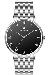 Men's Stainless Steel Band Watch- U7003, black, silver, silver