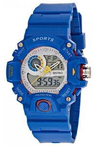 Astro Kids Blue Plastic Watch - A8903-PPLS, white, blue, blue