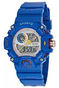 Astro Kids Blue Plastic Watch - A8903-PPLS, blue, white, blue