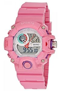 Astro Kids Pink Plastic Watch - A8903-PPPS, pink, white, pink