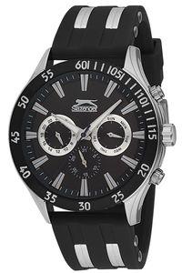 Men's Resin Band Watch - SL. 9.6076, black, silver, black