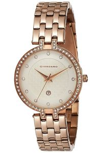 Women's Stainless Steel Band Watch - 2770, gold, champagne, gold
