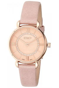 Ecstacy Women's Leather Band Watch E8505-RLPK, rose gold, rose gold, pink