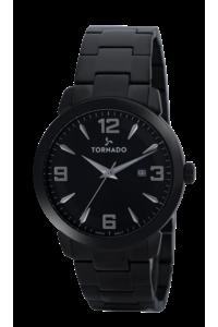 Tornado Men's Watch Analog Display-T9006-BBBBS, black, black