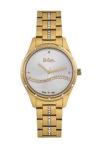 Women's Super Metal Band Watch -LC06639, gold, gold, silver