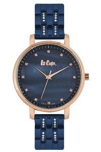 Women's Super Metal Band Watch -LC06627, mop blue, rose gold, blue