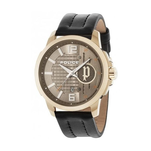Men s Leather Band Watch - P 15238