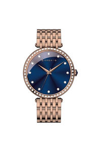 Giordano Women's's Watch Analog Display-2792-33, rose gold, blue