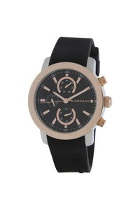 Giordano Men's Watch Multi Function Display- 1886-04, black, black
