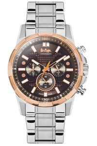 Men's Super Metal Band Watch - LC06359, silver, brown, silver