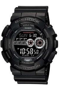G-shock Men's Resin Band Watch GD-100-1B, black, black, black