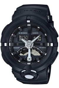 Men's Resin Band Watch -GA-500, black/grey, black, black