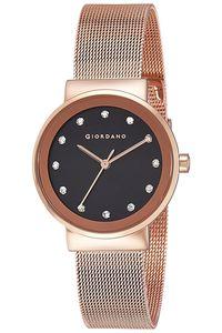 Giordano Women's's Watch Analog Display- 2832-11, rose gold, black
