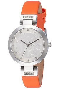 Women's Satin Band Watch -2784L, orange, silver white, silver