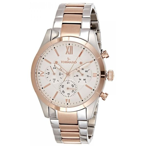 Men s Solid Stainless Steel Band Watch- T8105