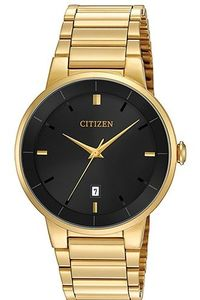 Men's Stainless Steel Band Watch - BI5012, black, gold, gold