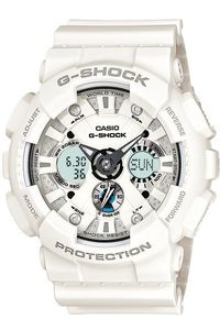 Men's Resin Band Watch -GA-120, white, white, white