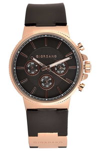 Giordano Men's Watch Multi Function Display- 1825-02, black, black