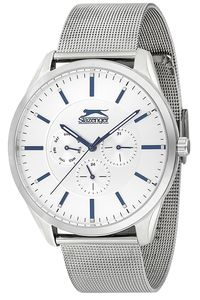 Men's Stainless Steel Band Watch - SL. 9.6003, silver, silver, silver